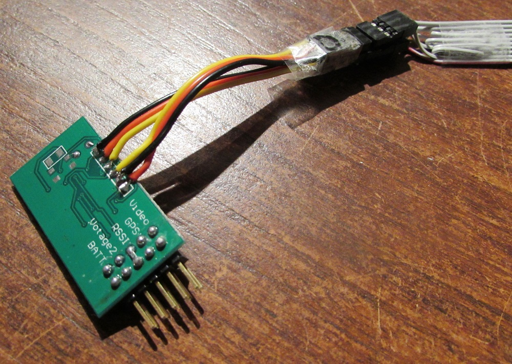OSD connected to AVR